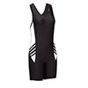 Unisex Defiance II Compression Speedsuit - Black/White - Medium